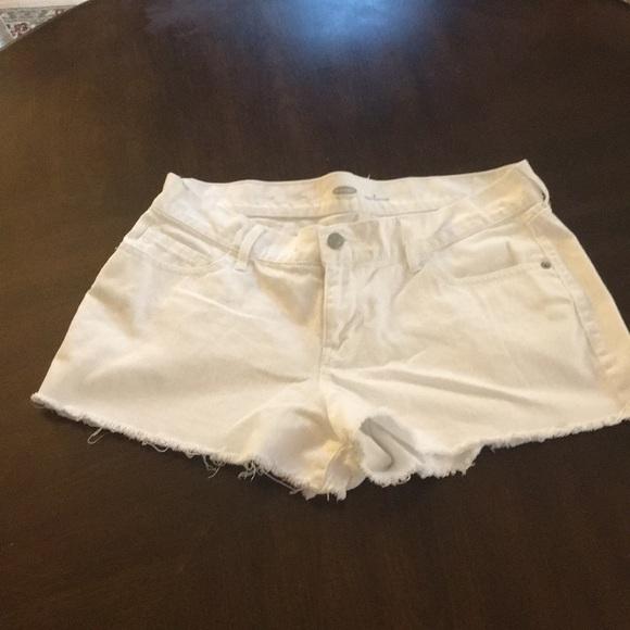 Old Navy Pants - Old Navy cutoff white shorts size 6